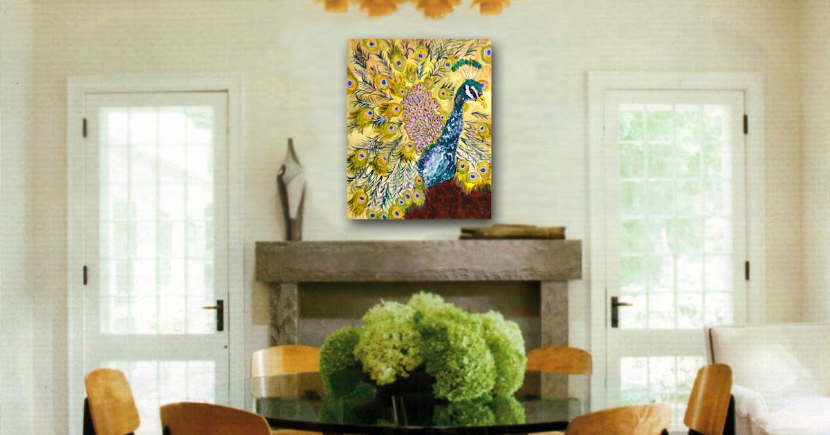 Art blog for creative living tasteful dining room for Peacock dining room ideas