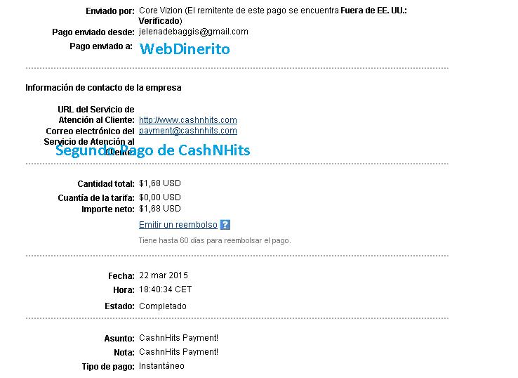 Pago CashNHits