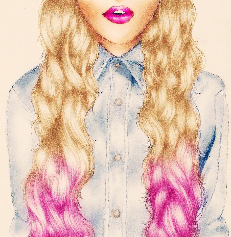 Tumblr Girl Hair Drawing