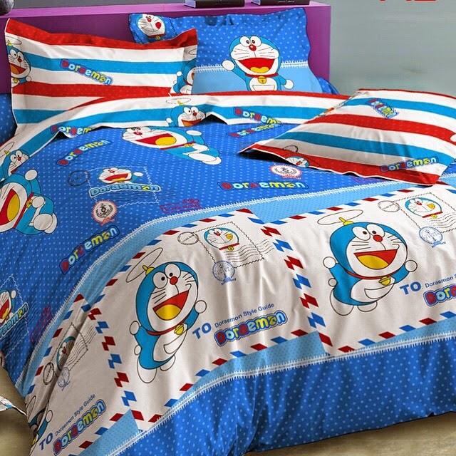 Sprei Anak Jepang Motif Doraemon