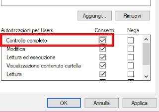 Controllo completo sicurezza Windows 10