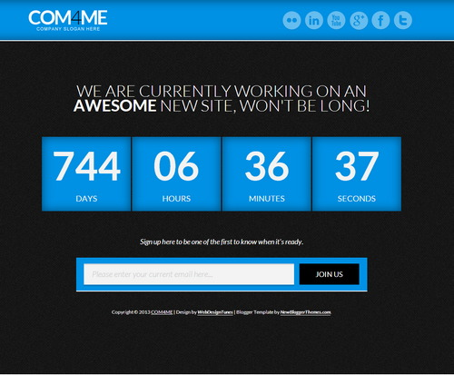 COM4ME Under Construction - Free Blogger Template 2016