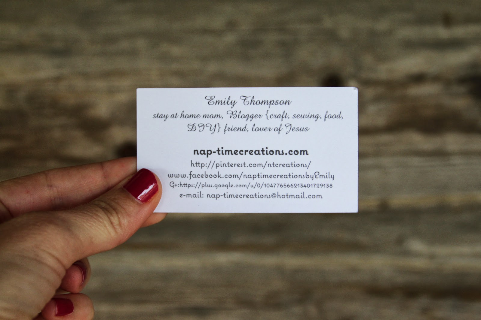 Business Cards from Vistaprint Life Sew Savory