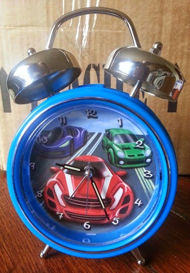 Sing My Name personalised children's racing car alarm clock