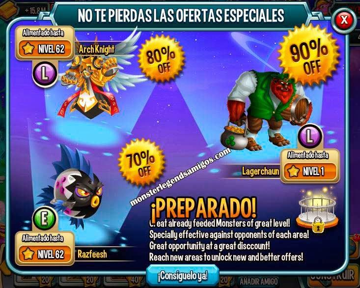 imagen de la oferta especial de san patricio de monster legends