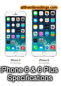 iPhone 6 & iPhone 6 Plus Specifications ~ iPhone screen sizes ~ iPhone screen resolution, iPhone features, iphone 6s rumors, iphone 6 news, iphone 6 dimensions