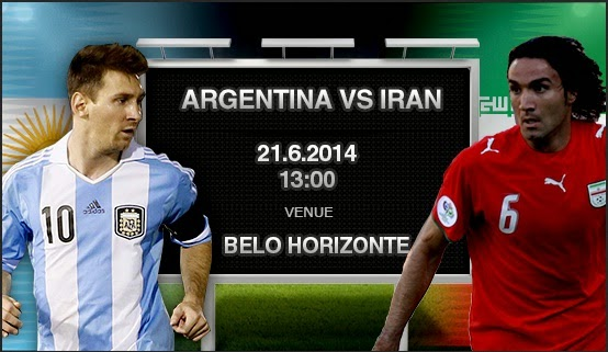 Prediksi Argentina vs Iran 21 Juni 2014 Piala Dunia