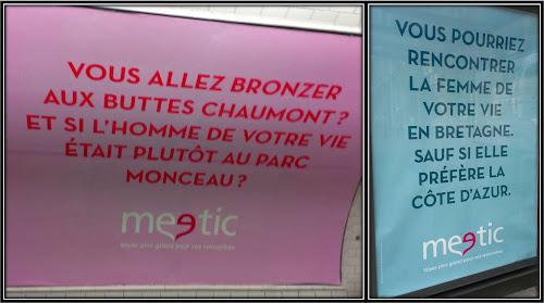 Pub affiche Meetic Buttes Chaumont Cote d'Azur