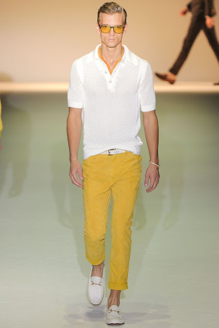 Male model Ben­jamin Eidem  S/S 2013 Gucci