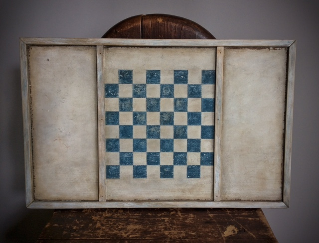 "Blue and White Checkerboard, 19 1/2"" L x 12"" H"