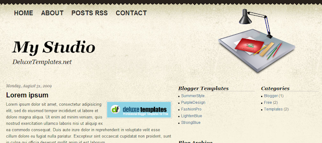 My studio - Template para Blogger