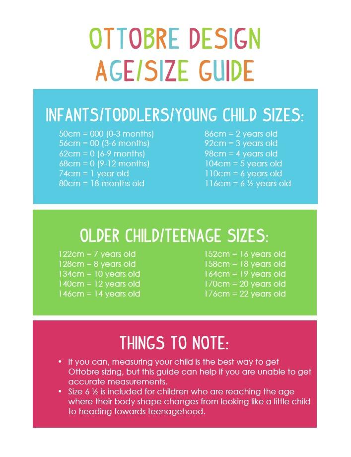 4563e0c0b1d66 Ottobre Design Age Size Guide. • Make It Perfect