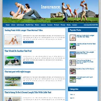 Insurance Co blogger template.