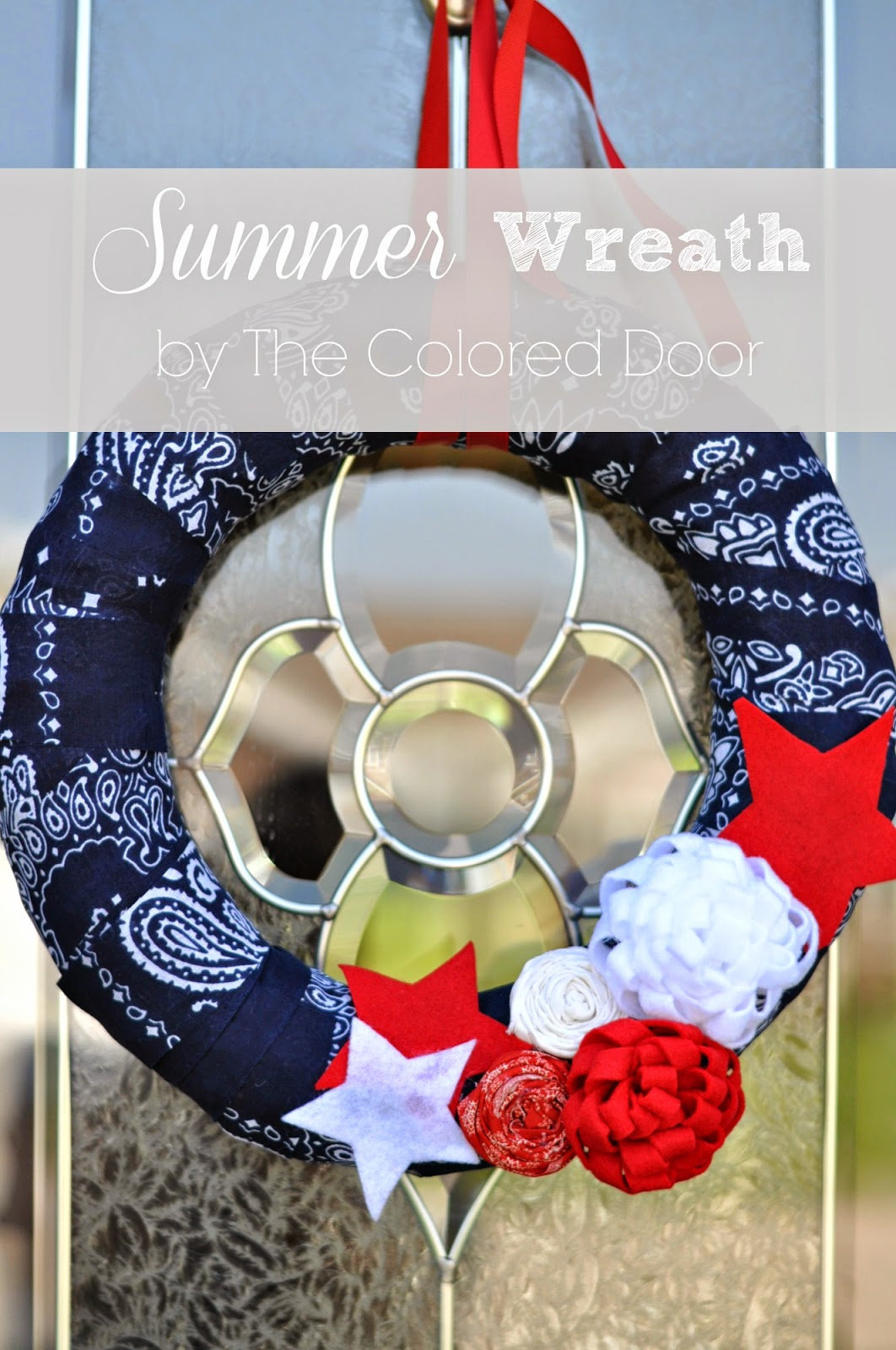 Summer Wreath | The Colored Door