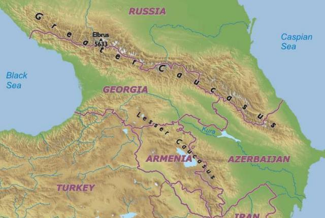 ANTHROPOLOGY OF ACCORD Map On Monday NATIONS OF THE CAUCASUS - Caucus map