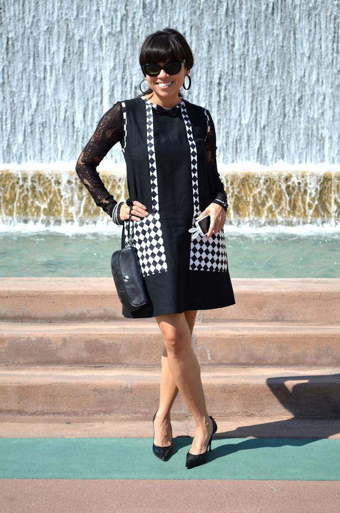 Black and White Mod Dress