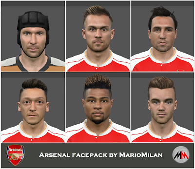 PES 2015 Arsenal facepack by MarioMilan