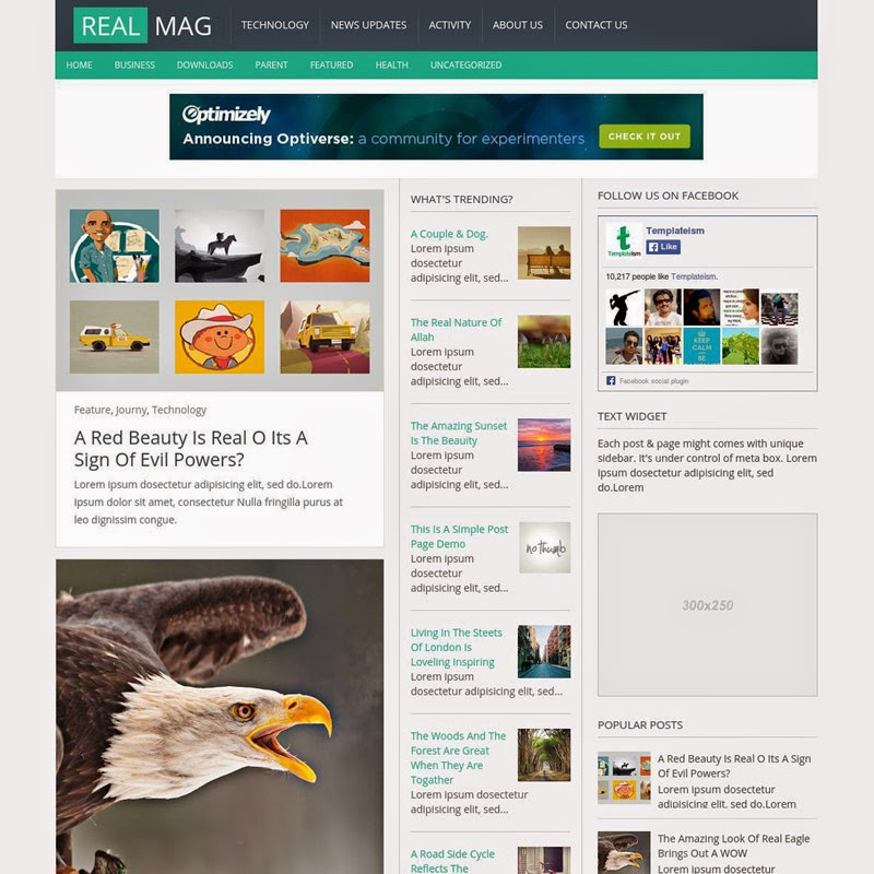 RealMag Free Responsive Blogger Templates