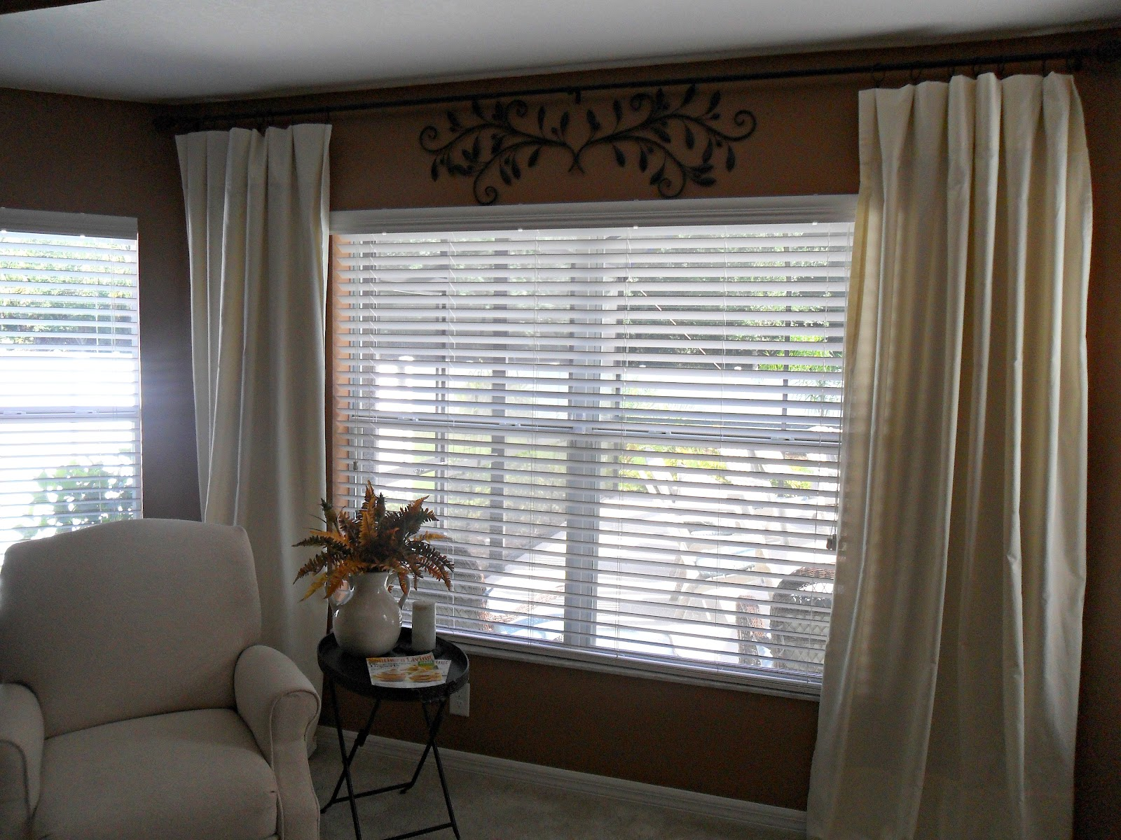Robin Flies South...: EZ Pottery Barn Knock Off Curtains