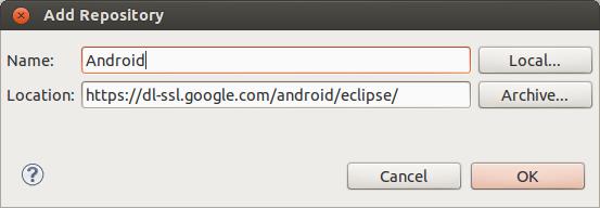 Langkah keempat: Mengintegrasikan Eclipse dengan Android SDK