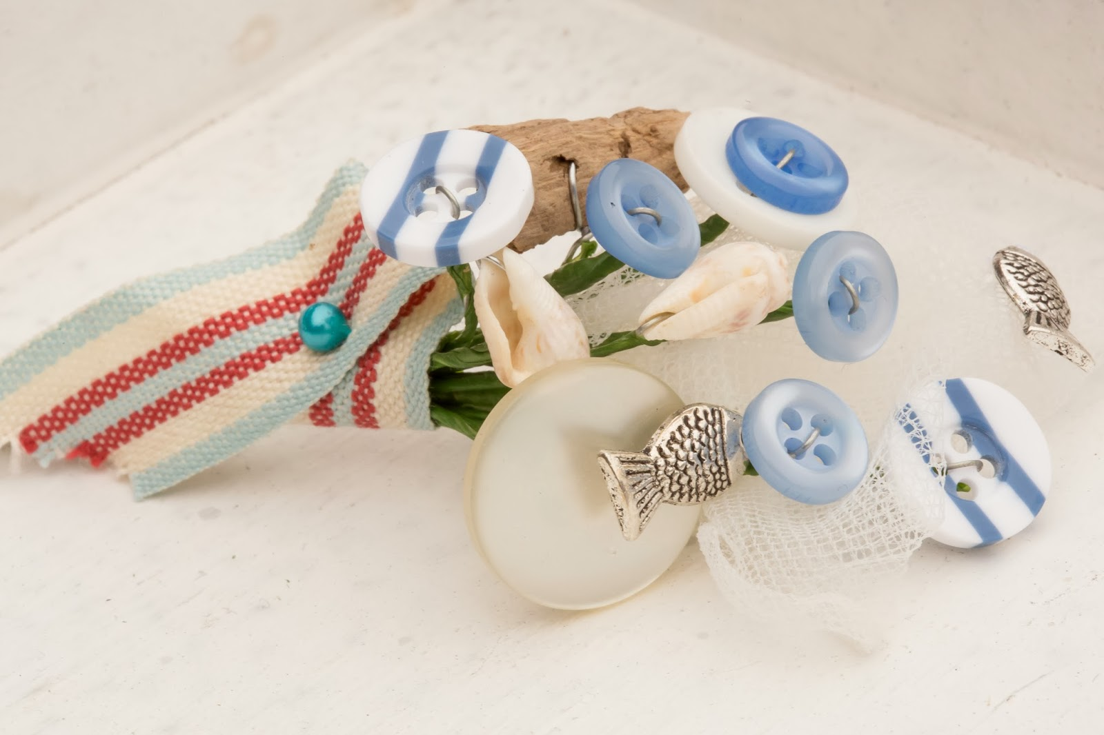Wedding Flowers For Beach Theme : Beach theme wedding bouquets button and brooch