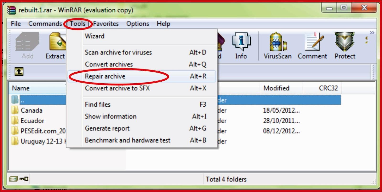 Cara Jitu Memperbaiki file RAR yang rusak atau corrupt