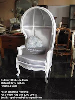 Indonesia Painted duco french modern furniture Jepara  French Umbrella Classic Chair Furniture modern style Jepara