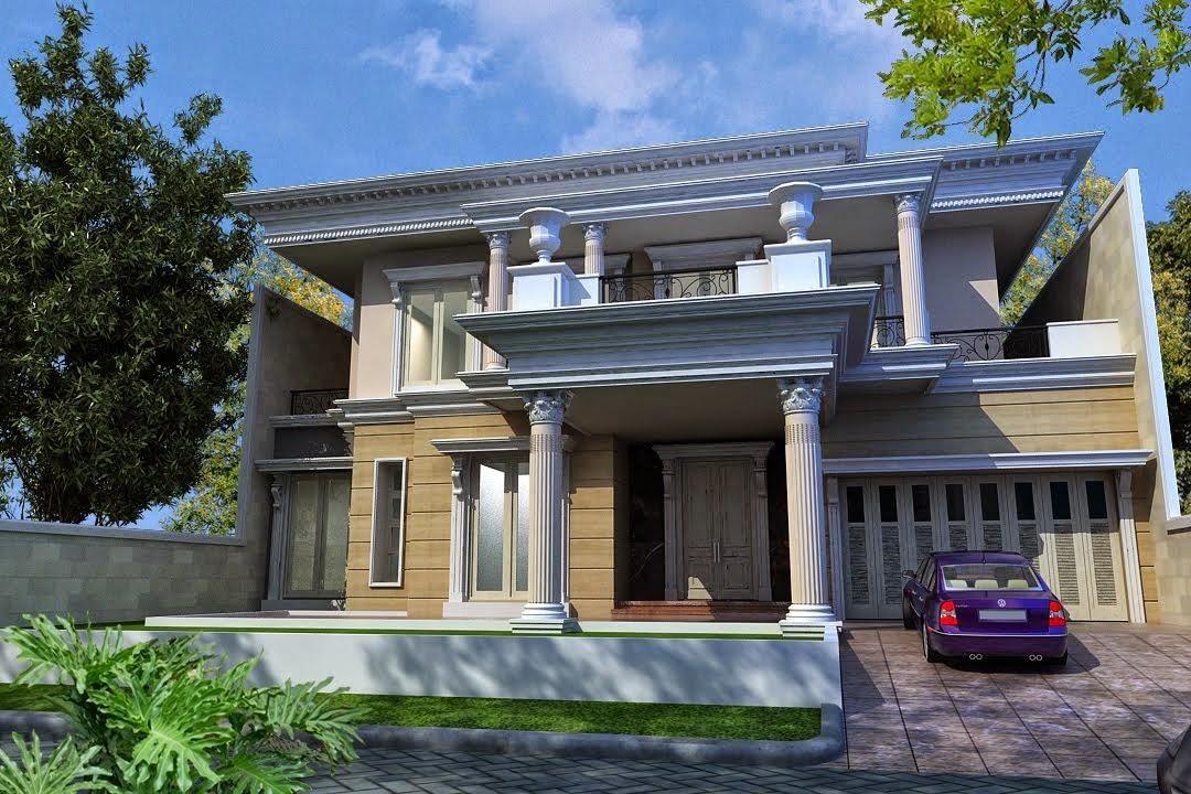 Gambar Rumah Klasik Tingkat 2 Minimalis Model Desain Modern