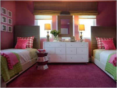 Key interiors by shinay decorating girls room with two for Room design 2 twin beds