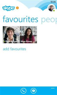 Skype v2.9 for Windows Phone