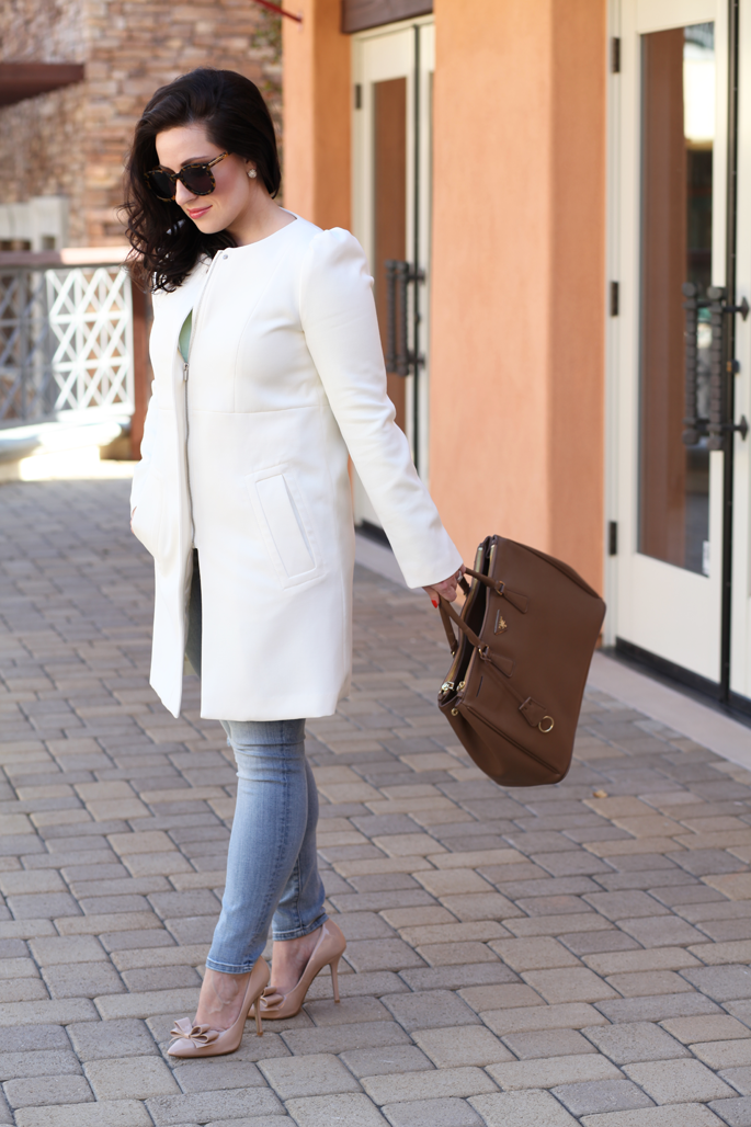 white-coat-h&m-spring-outfit-ideas-king-and-kind-blog-karen-walker-sunglasses-prada-bag-nude-bow-pumps