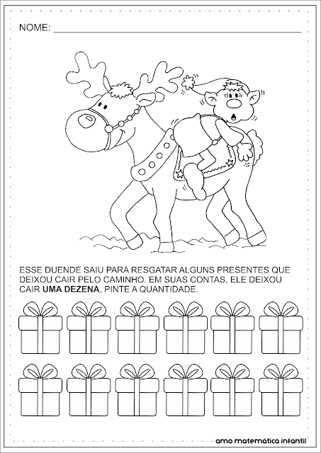 Dezena Atividade Natal Matemática