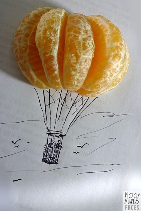 16-Orange-Hot-Air-Balloon-Victor-Nunes-The-Art-of-Making-and-Drawing-Faces-using-Everything-www-designstack-co