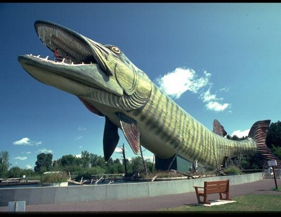 The world geography 15 of america 39 s strangest roadside for Freshwater fishing hall of fame