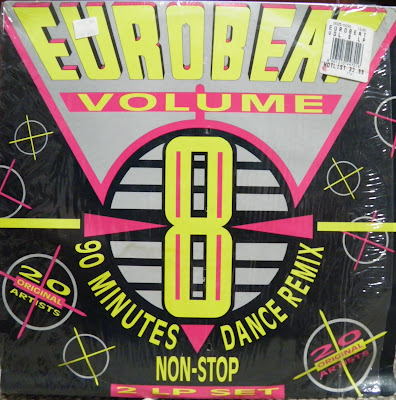 EUROBEAT - Volume 8 (90 Minute Non-Stop Dance Remix) (2LP Set) 1990 Various Artists Hi-NRG Italo House Disco 80's 90's Classic VERY