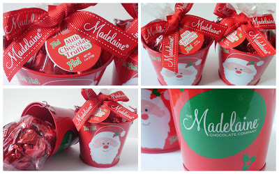 Easy Holiday Gifts, Delicious Holiday Gifts, Chocolate Gifts, Decorative Holiday Pails, Santa Gift Pails