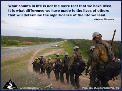 What counts in life is not the mere fact that we have lived. It is what difference we have made to the lives of others that will determine the significance of the life we lead. –Nelson Mandela