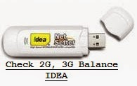 Check 2G, 3G Data Pack Balance Idea Net Setter