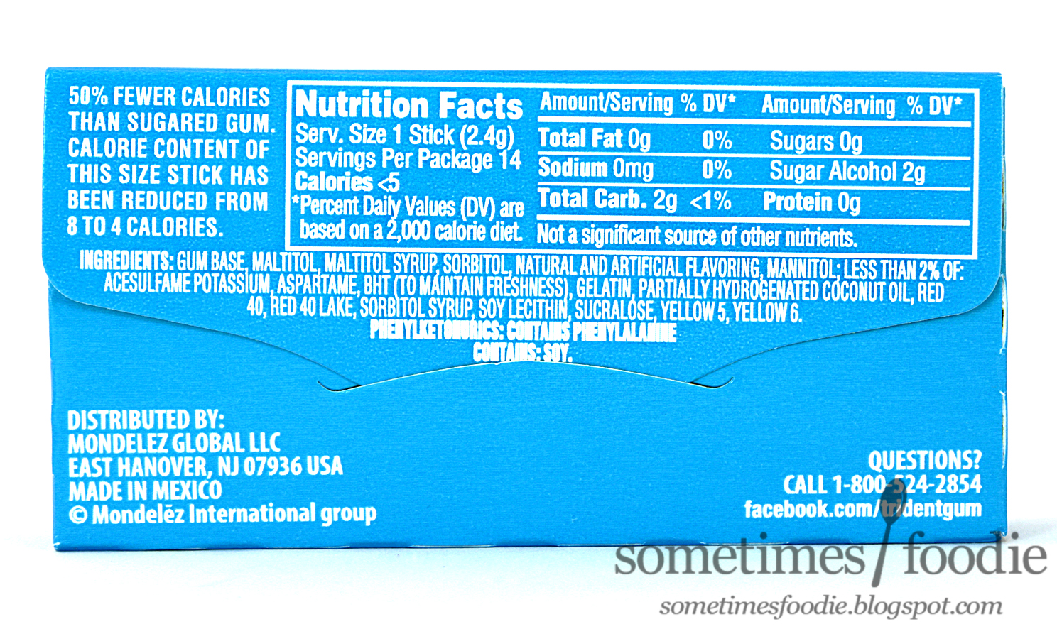 Sometimes foodie swedish fish trident layers gum gift for Swedish fish ingredients