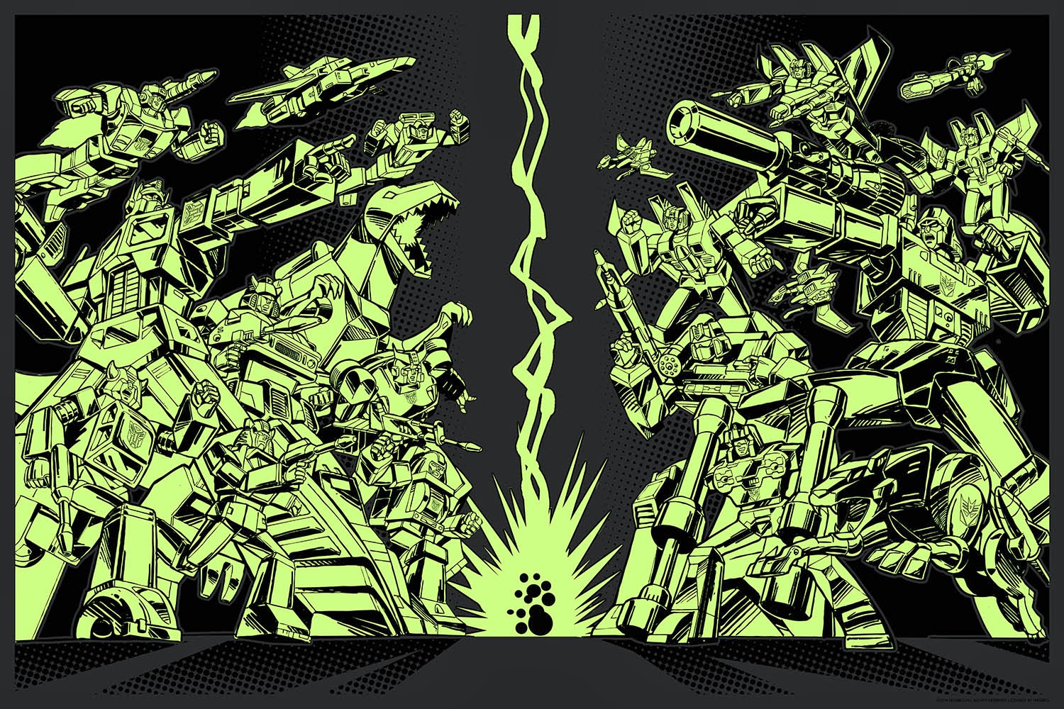 Transformers 30th Anniversary Glow in the Dark Variant Screen Print by Guido Guidi