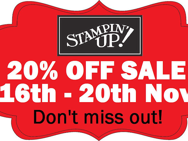 Stampin' Up! Flash Sale - 20% off prices shown
