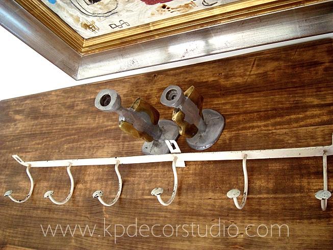 Kp tienda vintage online perchero antiguo de forja blanco - Percheros de pared originales ...