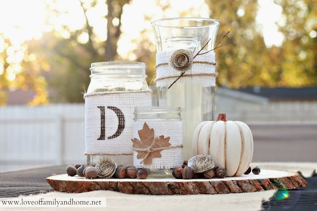 http://loveoffamilyandhome.net/2012/10/rustic-fall-centerpiece-tutorial.html