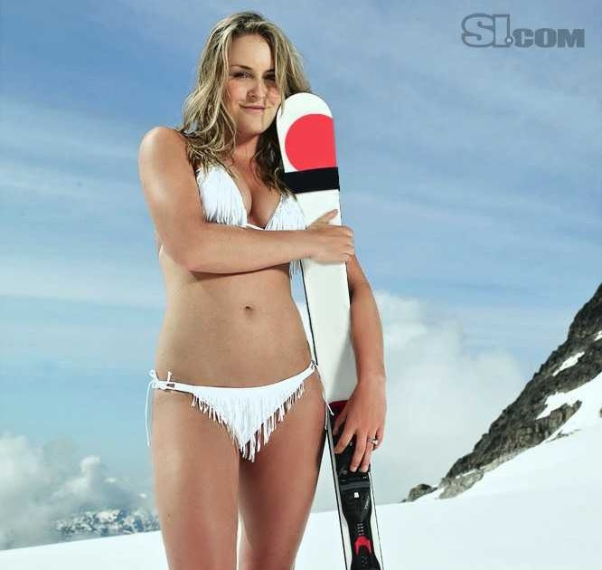 lindsey vonn   american ski racer bikini photos and