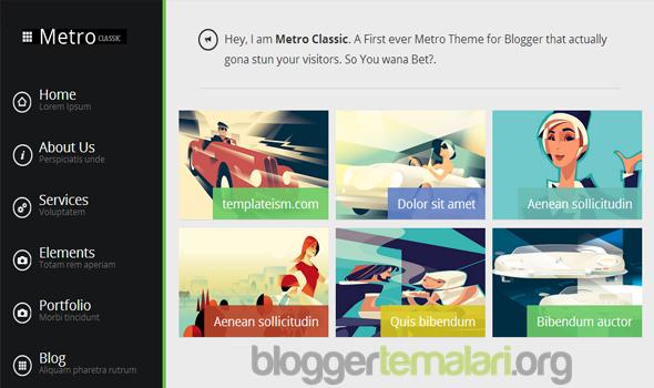 Metro Klasik Responsive Blogger Teması