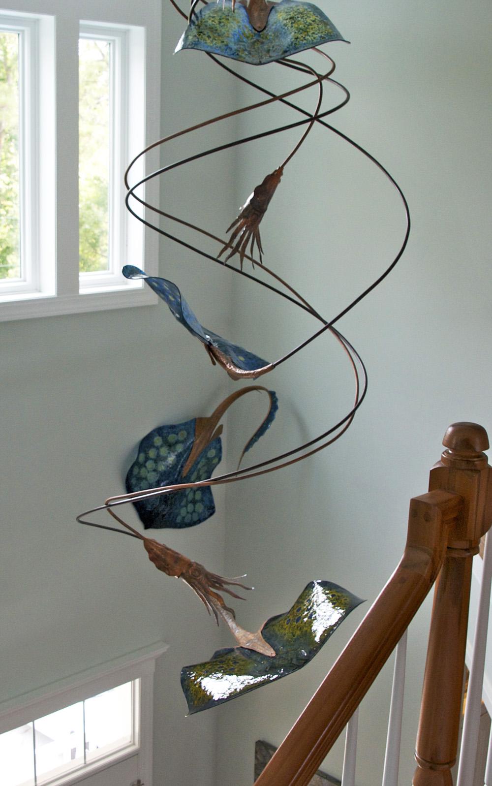 Art Glass Foyer Light : Stan harmon glass art sculpture