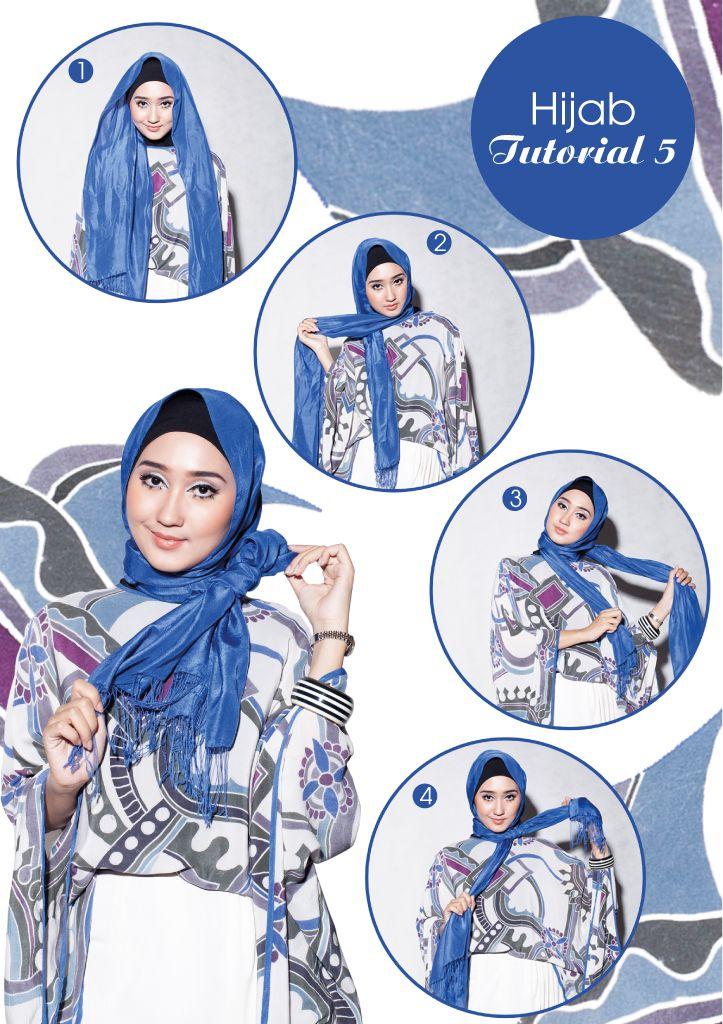 Cara Memakai Hijab Kerudung Segi Empat Modern