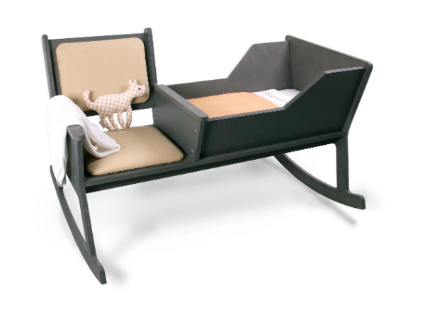 Modern rocking chair with integrated baby cradleSpicytec
