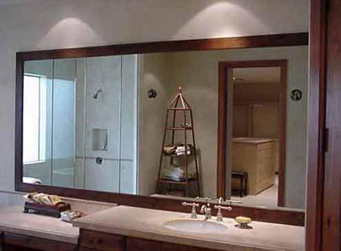 sisi kreatif Anda dengan gambar di bawah ini untuk cermin kamar mandi