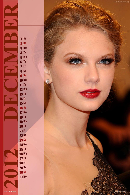 Taylor Swift Calendar 2012